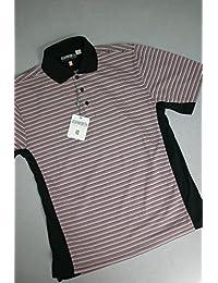 Ashworth Herren Golf Shirt Schwarz/Rot L