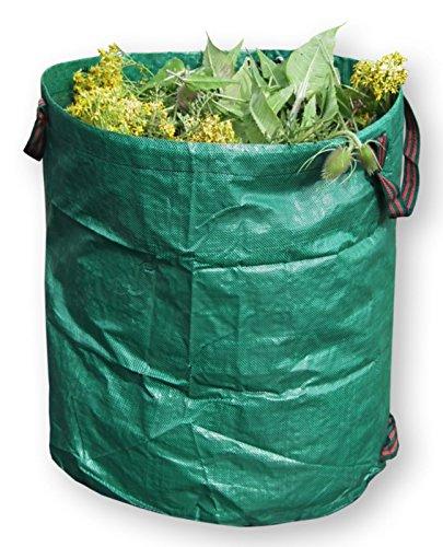 3sacchi per rifiuti da giardino, resistente, riutilizzabile, durevole grandi pesanti sacchi della spazzatura (270litri)