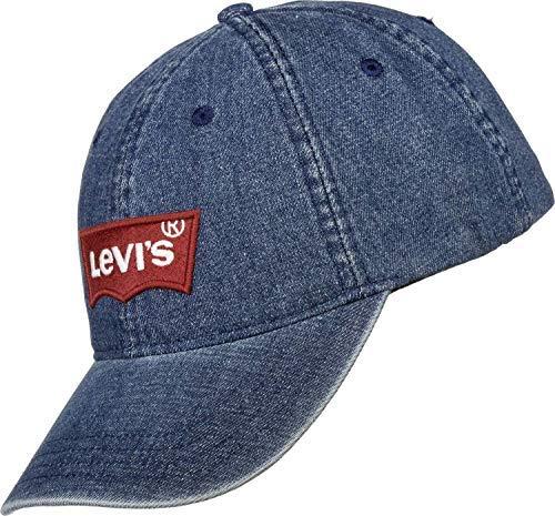 Levi's Herren Big Batwing Ball Cap Denim Schirmmütze, Blau (Light Blue 13), One Size (Herstellergröße: UN)