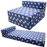 Blue Stars Single Guest Chair Z Bed Fold Out Futon