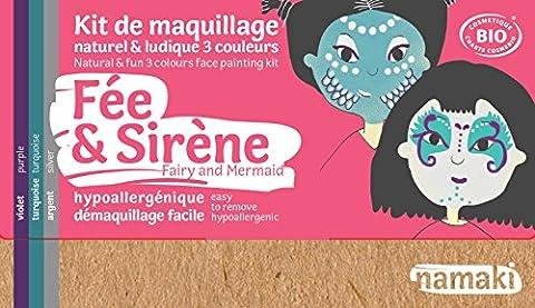 Namaki - Kit de maquillage enfants BIO - Fées et Sirènes - 3 couleurs