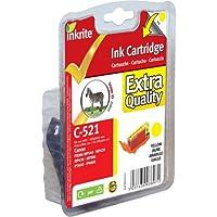 Inkrite Printer Ink For Canon Mp980 Mp620 Mp630 Mp540 Ip4600 Ip3600- Cli-521y Yellow (zebra) - NGSCY521u