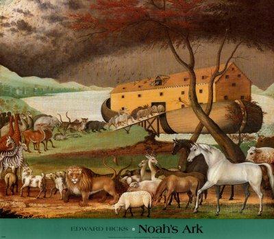 Noah's Ark Art Poster Print by Edward Hicks, 51x46