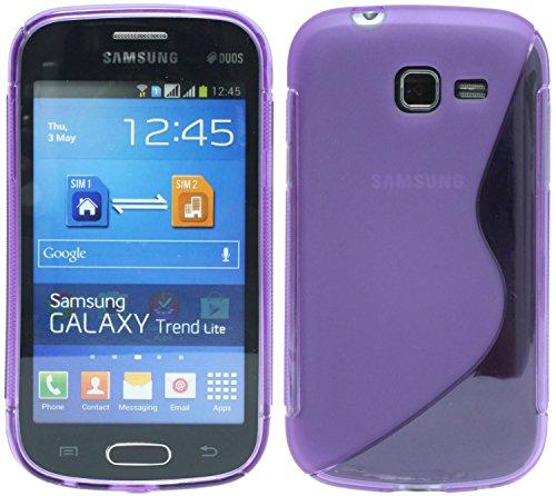 S-Line TPU SchutzHülle für Samsung Galaxy Trend Lite S7390 Silikon Hülle in Lila @ Energmix