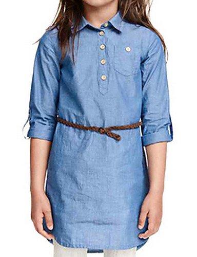 Jeans Girl Cotone Primavera / Autunno Blu , (Merletto Della Stampa Jeans)
