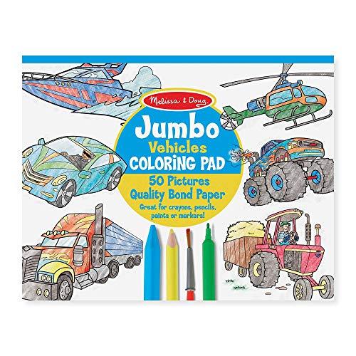 Melissa and Doug Jumbo Coloring Pad Vehicles