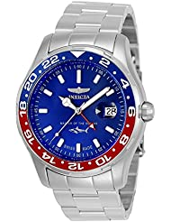 Invicta Men' s Pro Diver Steel Bracelet & case Quartz Blue Dial Watch 25820