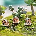 yixuan 3PCS Garten Ornament Fairy Puppenhaus Decor Miniatur House Craft Blumentopf, zufällige Stil von YIXUAN bei Du und dein Garten