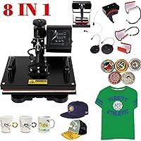 Ridgeyard Aggiornamento 8 In 1 multifunzione Swing Away stampa macchina sublimazione stampa a trasferimento termico (Stampa Bordo Shirt)