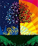 Diy oil painting, paint by number kit- Abstract tree 16*20 inch.