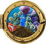 Clest F&H 3D Wall Art Submarine Marine Colorful Fish Home Decals For Kids Living Room 43cm*43cm