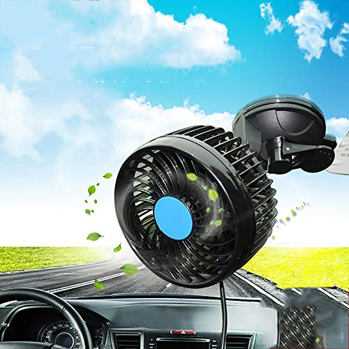 LWPCP Einzelner Autofan Großer Wind Saugnapflüfter Stufenlose Geschwindigkeit Autofan,12V