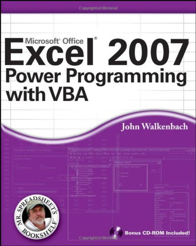 Excel 2007 Power Programming with VBA (Mr. Spreadsheet's Bookshelf) by Walkenbach, John (April 17, 2007) Paperback