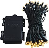Led Lichterkette Batterie 24 48 96 mit Timer und teilweise mit Fernbedienung grünes Kabel für innen und außen (96er)