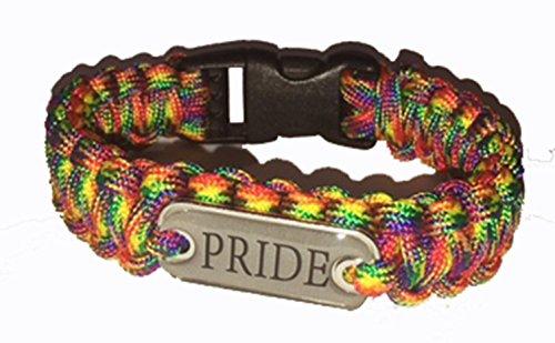 LGBT GAY PRIDE LESBIAN PARA CORD WRISTBAND BRACELET RAINBOW (WB1) A GREAT GIFT