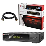 HB-DIGITAL SET: Opticum AX C100 HD Receiver für digitales Kabelfernsehen (HDMI, SCART, USB 2.0, Mediaplayer) + HDMI Kabel