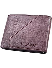 Huben Brown Men's Tri-Fold Wallet