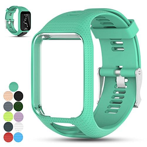 iFeeker Zubehör Ersatz Weich Silikon Gel Uhrenarmband Armband Sport Armband für TomTom Runner 2 / Runner 3 / Spark 3 / Adventurer / Golfer 2 Multisport Fitness Uhr Sport GPS Running Smartwatch