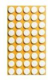Filzgleiter selbstklebend KREIS, QUADRAT und RECHTECK für Bodenschutz, Kratzschutz oder Stuhlgleiter für Parkett- und Laminatboden | verschiedene Größen und Farben (rund | 14 mm | 45 Stück)