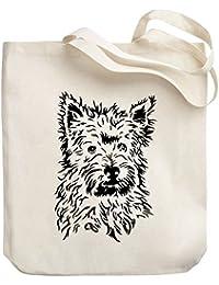 Teeburon West Highland White Terrier FACE SPECIAL GRAPHIC Bolsa de Lona