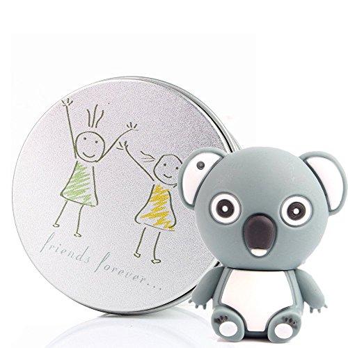 Anvor (TM)/8 g 16 g 32 g 64G USB Flash Drive Fun Cute Lovely Cartoon in Silicone antiaderente a forma di Koala, USB, con anello portachiavi Grigio Friends Forever 16G