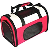 Petsfit Fabric Large Pet Carrier for Dog and Cat, Cat Carrier,Rose Red, 50cm x 29cm x 31cm (Medium)