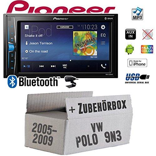VW Polo 9N3 - Autoradio Radio Pioneer MVH-A200VBT - 2-Din Bluetooth   MP3   USB   - Einbauzubehör - Einbauset