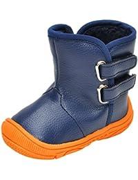 Zantec zapatos Los niños del bebé forro de felpa acolchado de algodón zapatos de invierno engrosado cálido impermeable botas altas de nieve