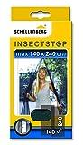 Schellenberg 20509 Fliegengitter für Türen | Fliegenvorhang für Balkontür & Terrassentür | Maße: 140 x 240 cm | anthrazit | einfache Montage ohne bohren | inkl. Befestigungsband & Gewichte