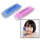 OFKPO 2PCS Armónica de juguete - Educación temprana para ninos (Azul y Rosa)