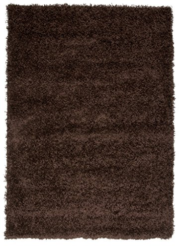 Ontario Dense Pile Soft Chocolate Brown Shaggy Rugs - Available in 14 Sizes
