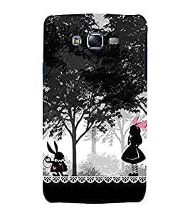 printtech Alice Wonderland Girl Rabbit Back Case Cover for Samsung Galaxy J7 / Samsung Galaxy J7 J700F