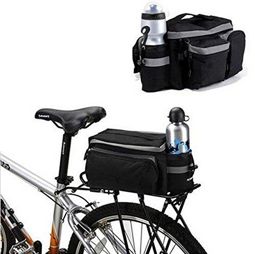 hebey Multi-Funktion Mountain Road MTB Fahrrad Sport wasserdicht 7L Gepäckträger, Trunk Bag Fahrrad-Zubehör Handtasche Schultertasche schwarz Paar -