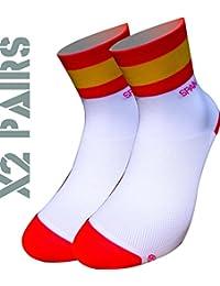 España TKS socks pack 2 PARES SOFTAIR+, ciclismo, running, triatlon, golf y