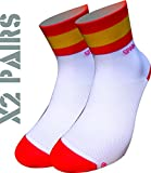 España TKS socks pack 2 PARES SOFTAIR+, ciclismo, running, triatlon, golf y deportes en general. (XL(46-48)(11-12UK))