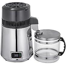 Moracle Destilador de Agua de Acero Inoxidable 750W Destilación de Agua Destilador de Agua de 4