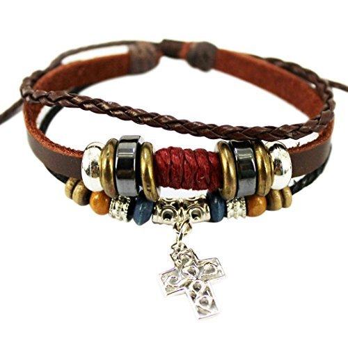 wild-wind-tm-de-noel-vintage-pendentif-croix-tresse-multi-brins-bracelet-cuir