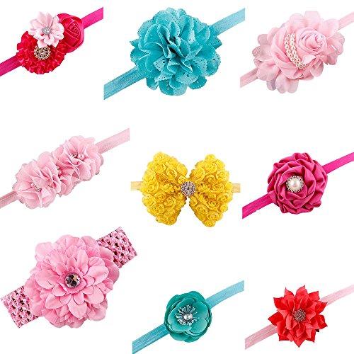 Malloom® 9 De Style Bande De Cheveux Fleur Enfant Fille Bébé Bandeau