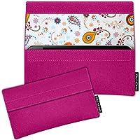 SIMON PIKE Samsung Galaxy S9+ Filztasche Case Hülle 'NewYork' in pink 10, passgenau maßgefertigte Filz Schutzhülle aus echtem Natur Wollfilz, dünne Tasche im schlanken Slim Fit Design für das Galaxy S9+
