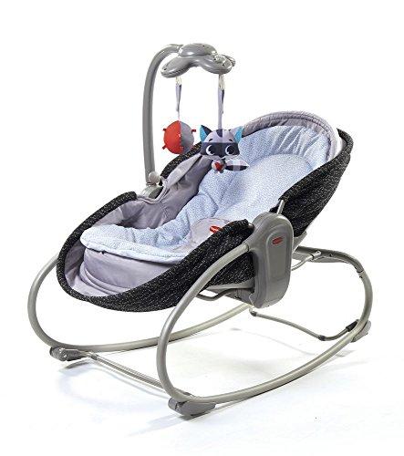 Tiny Love 3-in-1 Rocker-Napper gemütliche Babywippe, Baby-Schaukel und Babybett in einem, inklusive Vibration und Mobile, Luxe (grau)