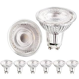 Apleye GU10 5W LED super helle Birne in natürlichem Weiß Tageslicht 4500K, ersetzt 45W Halogenbirne [Energieklasse A ++] ...