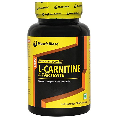 MuscleBlaze L-Carnitine L-Tartrate, 60 capsules Unflavoured  available at amazon for Rs.599