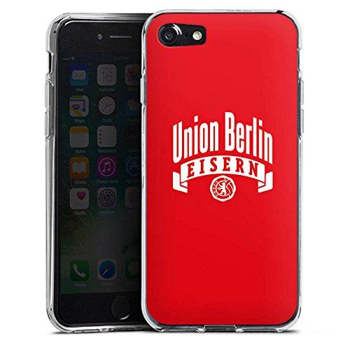 Apple iPhone 7 Tasche Hülle Flip Case 1. FC Union Berlin Fanartikel Fußball Silikon Case transparent