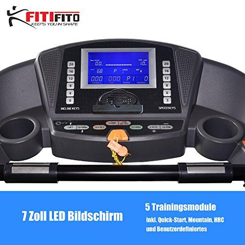 Fitifito ES8500X Profi Laufband 7PS 22km/h mit LCD Bildschirm - Klappbar, Schwarz Abbildung 2
