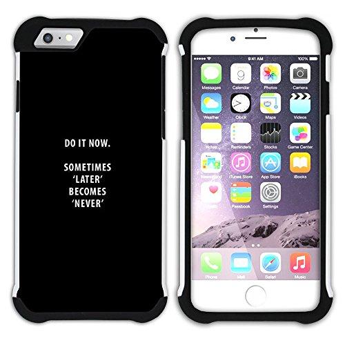 Graphic4You Gym Motivierung Zitate Krafttraining Hart + Weiche Kratzfeste Hülle Case Schale Tasche Schutzhülle für Apple iPhone 6 / 6S Design #6