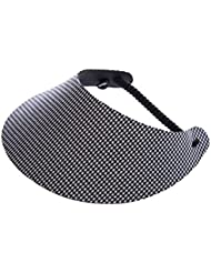 """XFORE visière soleil """"Rona"""" casquette de golf sport tennis pour femmes avec motif pied-de-poule, taille unique"""