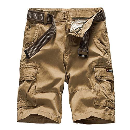 Camo Army Cargo Bdu Shorts (Aiserkly Herren Cargo Shorts Gürtel Hose Arbeitshose Pocket Flachgewebe Hose Jogginghose Kurze Sommer)
