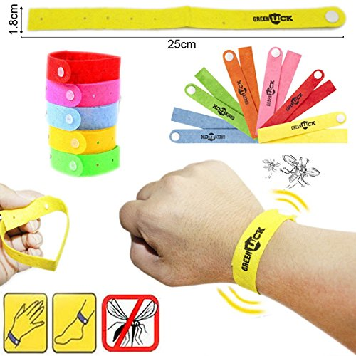 JJOnlineStore–Multi Color ajustable anti repelente de insectos Bug Mosquito Bite pulsera pulseras bandas Talla:Paquete de 5