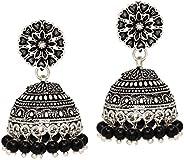 Preyans From Jaipur Mart Oxidised Brass Metal Jhumki Earrings for women's/Girl's (GS