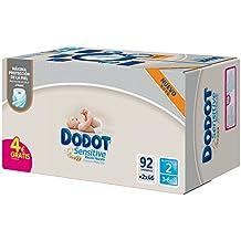 Dodot Sensitive - Pañales, talla 2, 3-6 kg, 92 unidades
